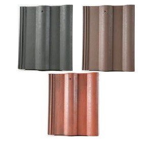 Breedon Double Roll Tile Roof Tile (Anthracite, Brown, Rustic Red) Image
