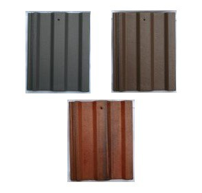 Breedon Square Top Tile Roof Tile (Anthracite, Brown, Rustic Red) Image