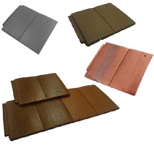 Forticrete Gemini Roof Tiles (Slate Grey, Brown, Sunrise Blend, Mixed Russet) Image