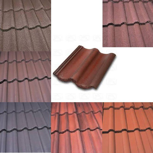 Marley Mendip Roof Tiles (Smooth Grey, Smooth Brown, Antique Brown, Old English, Mosborough Red, Dark Red) Image