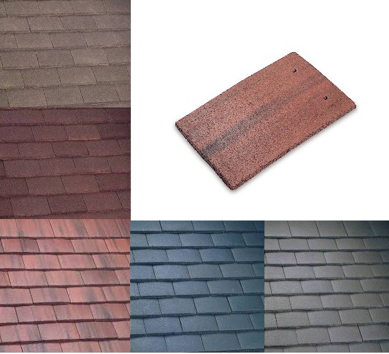 Marley Plain Roof Tiles (Smooth Grey, Smooth Brown, Antique Brown, Old English, Dark Red) Image