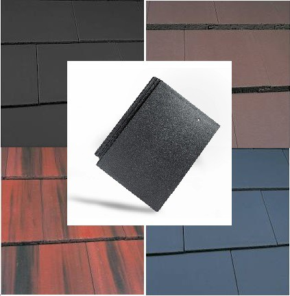 Marley Edgemere Roof Tiles (Anthracite, Old English Dark Red, Smooth Grey, Smooth Brown) Image